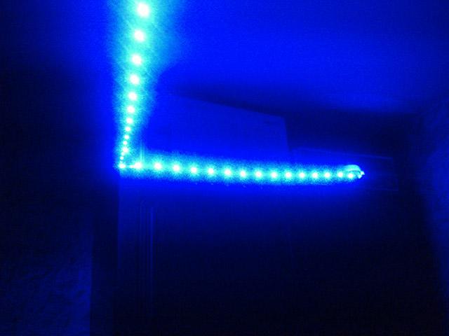 Синяя подсветка